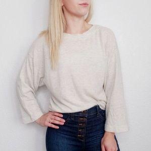 Si-Iae Wool Ivory Wide Leg Cozy Sweater 776